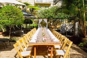 Esplanade Hotel Fremantle by Rydges Perth Resort Pool Outdoor Wedding Long Table