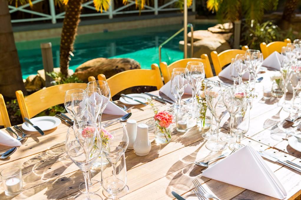 The Poolside Bar Wedding Decoration at Esplanade Hotel Fremantle