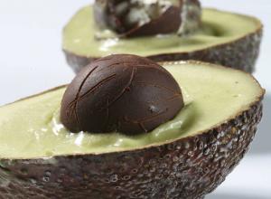 Avocado Chocolate Egg Ice Cream