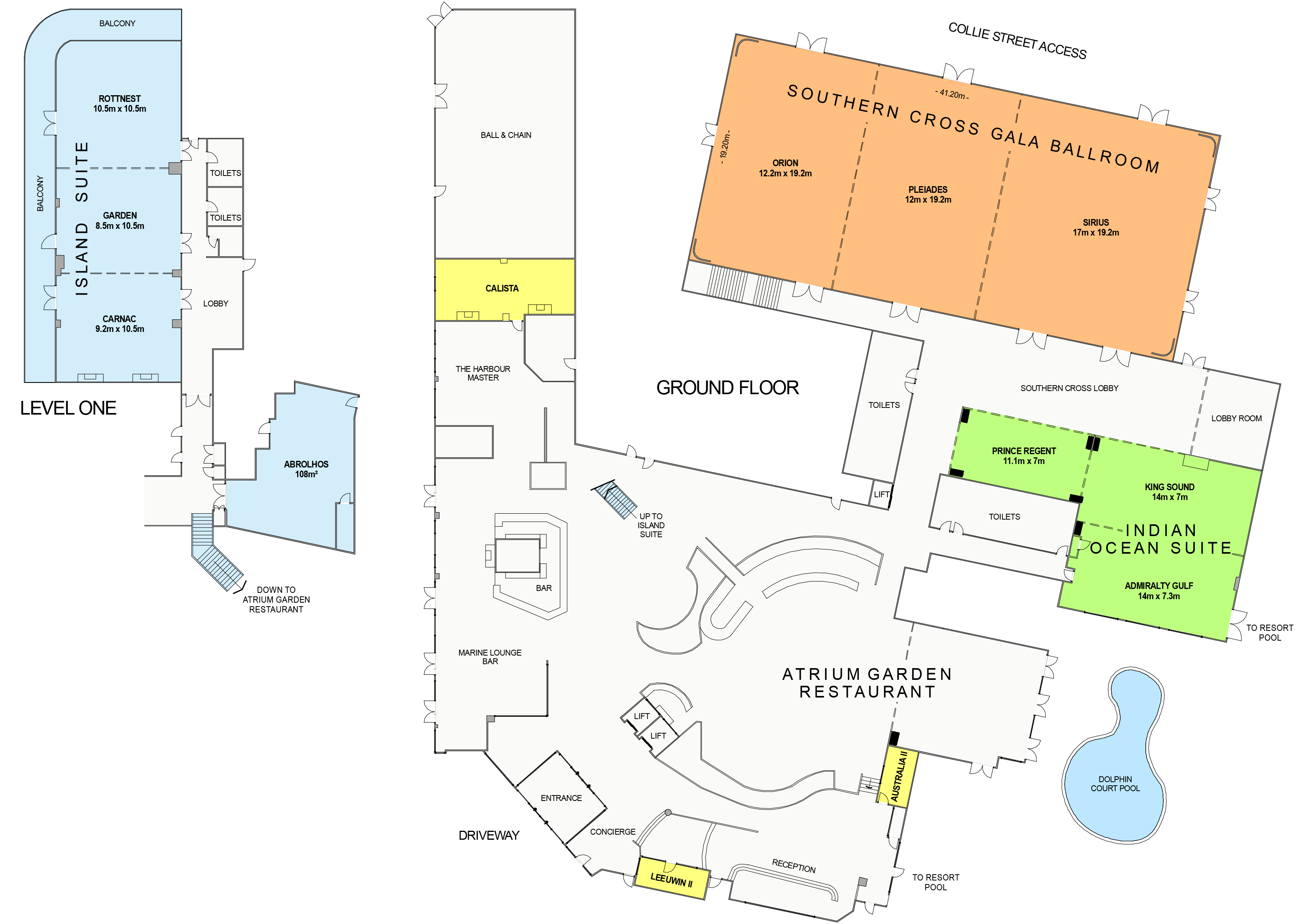 Esplanade Hotel Fremantle Floor Plan